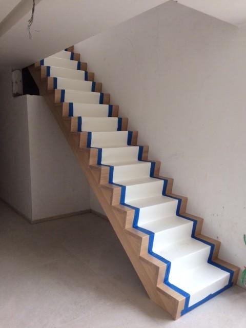 Escalier contemporain à Marche