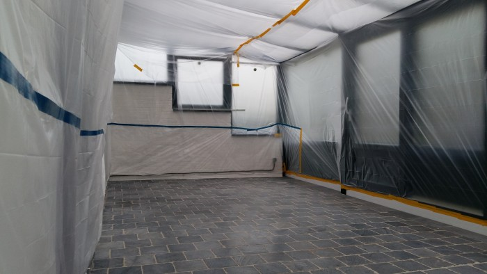 Protection chantier avant projection