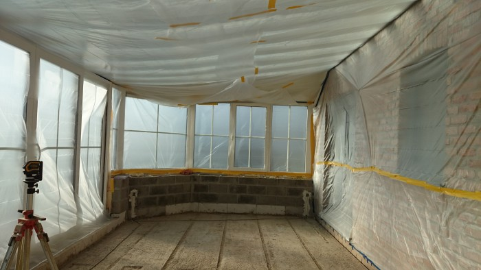 Protection chantier - Projection PUR