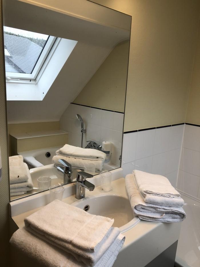 Salle de bains chambre bouble