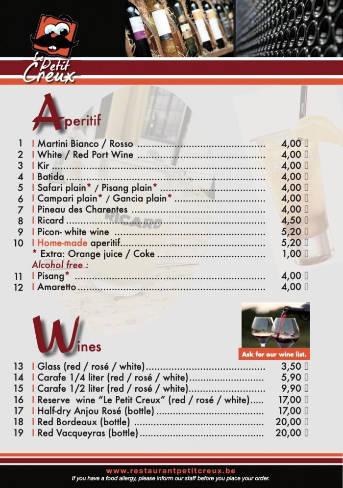 Our menu - 2