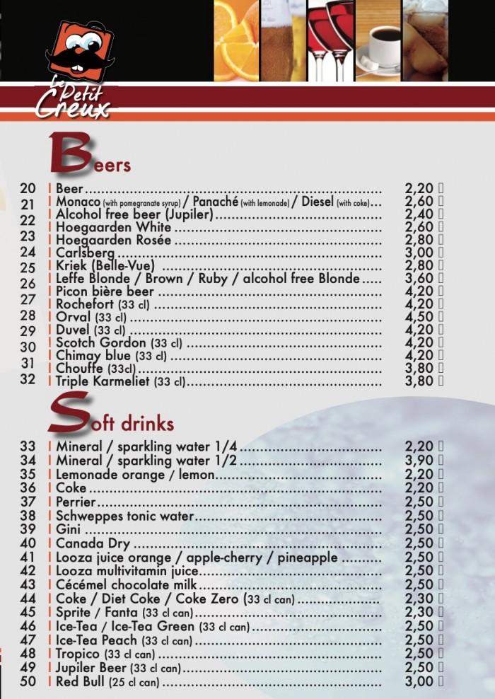 Our menu - 3