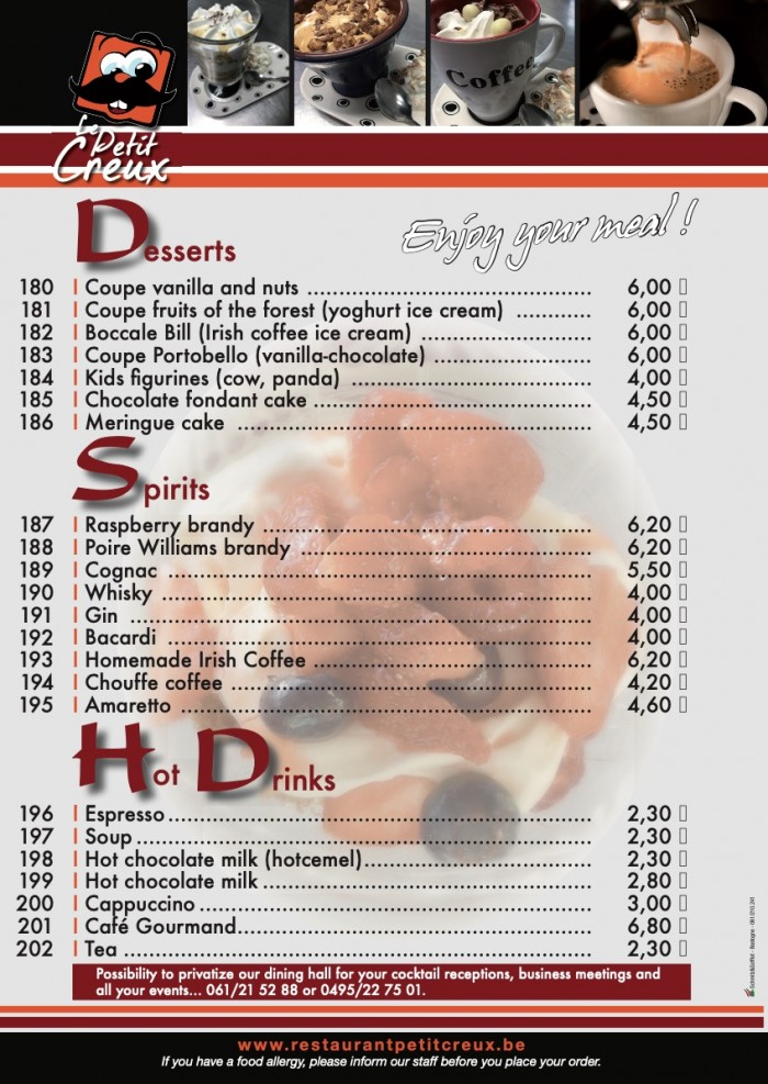 Our menu - 8