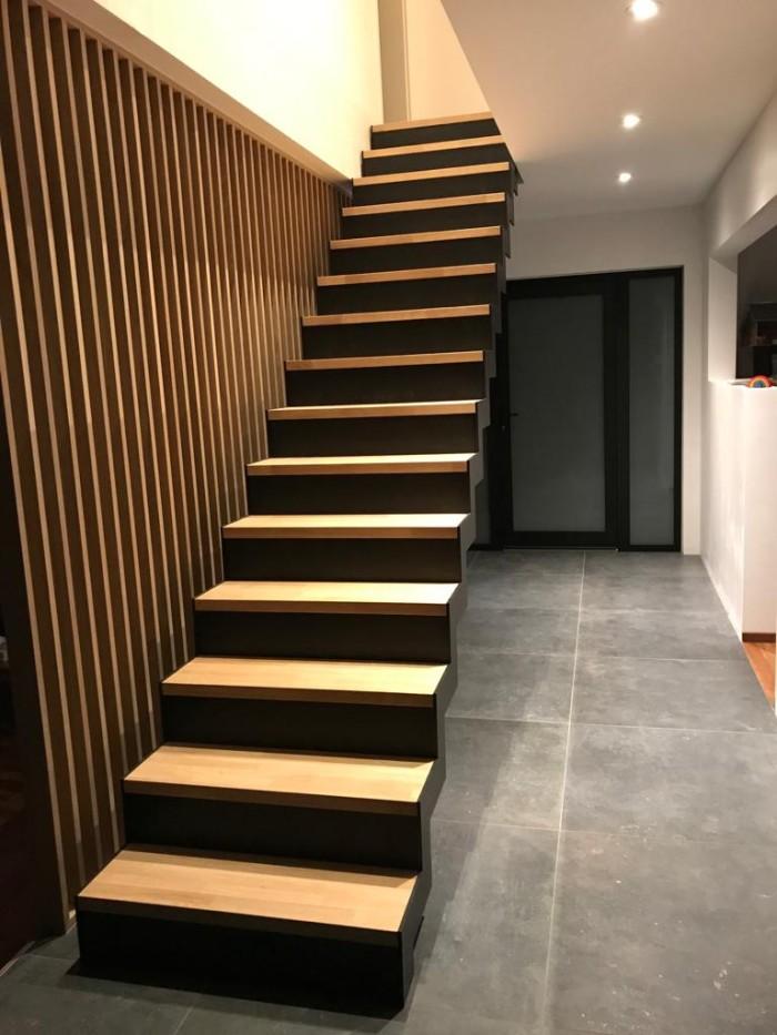 Escalier crémaillère + Contre marche