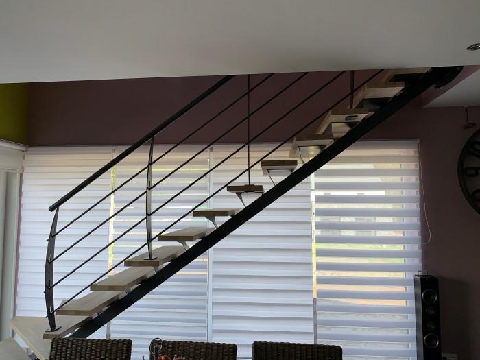 Garde-corps escalier acier laqué