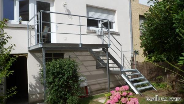 Escalier + terrasse industriel