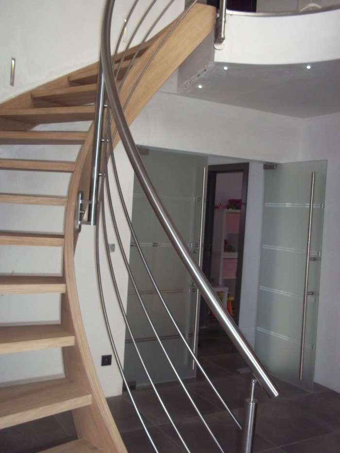 Garde-corps escalier inox 4 sous-lisses