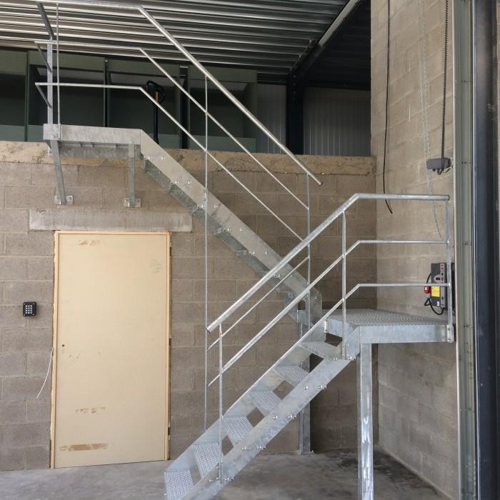 Escalier + Garde-corps galvanisé