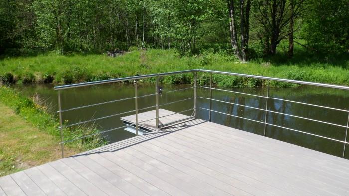Structure terrasse planché IPE