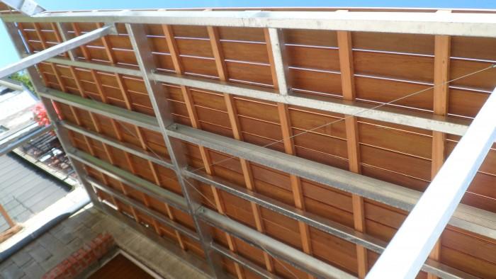 Structure terrasse galvanisé + IPE