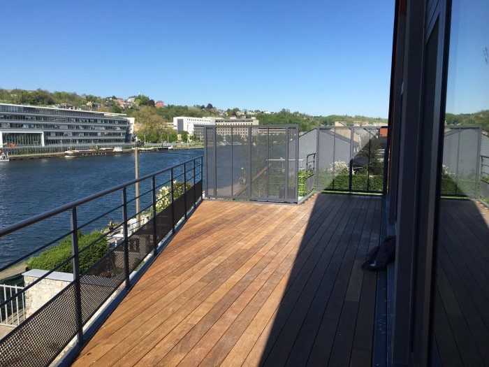 Terrasse métal + bois