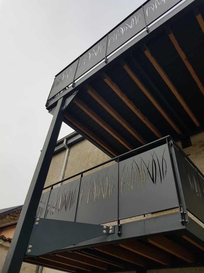 Terrasses structure métallique