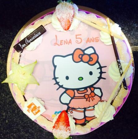 Photo sur gâteau.