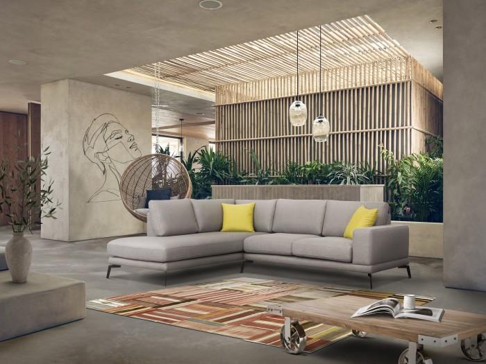 Salon Moderne En Tissu