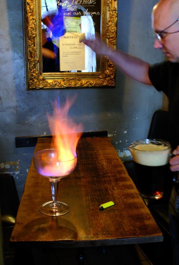 Bières flambées