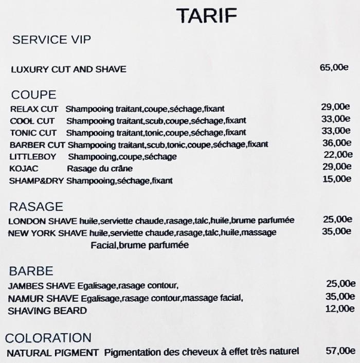 Nos tarifs - 1