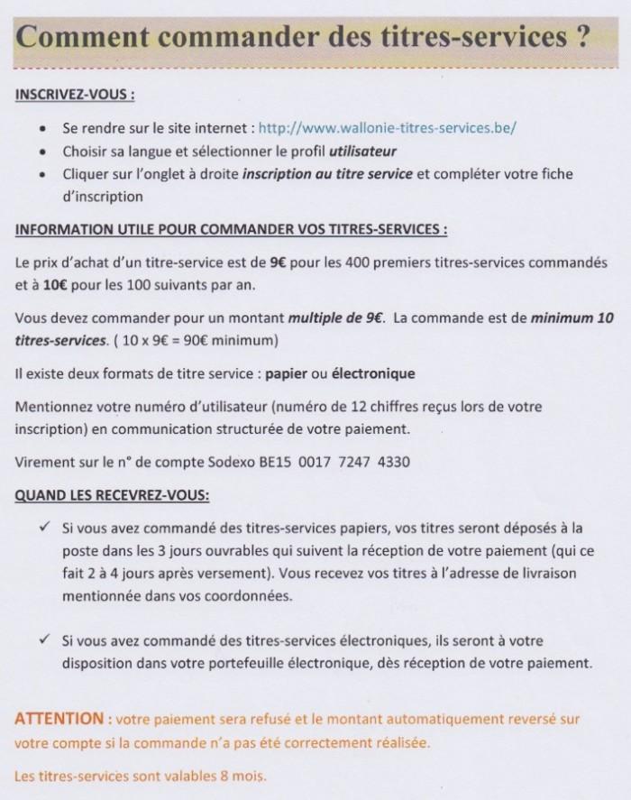 Commande titres services - 1