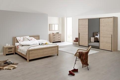Chambre moderne ton chêne clair