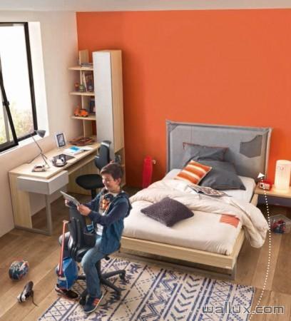 Chambre design Avec finitions naturelles