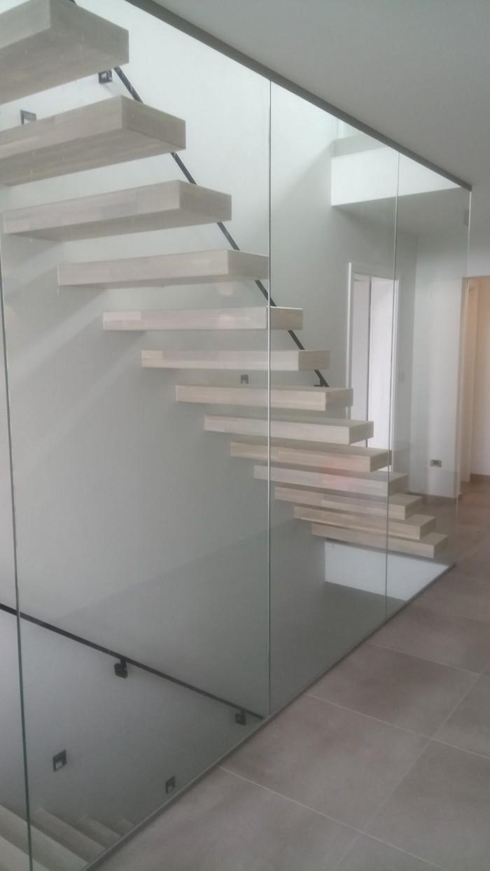 Cloison escalier verre 6.6/2 clair