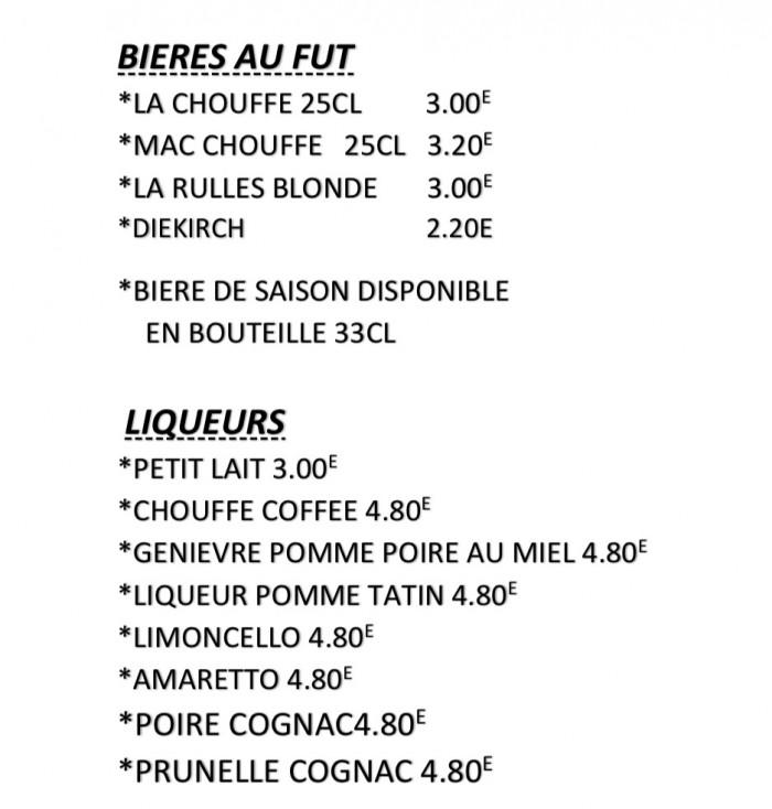 Notre carte et menus - 6
