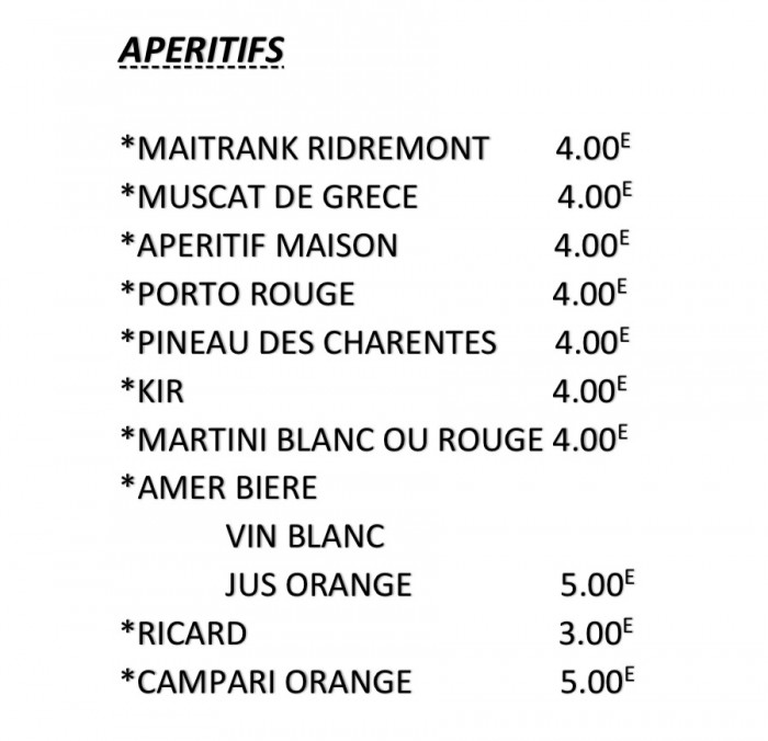 Notre carte et menus - 7