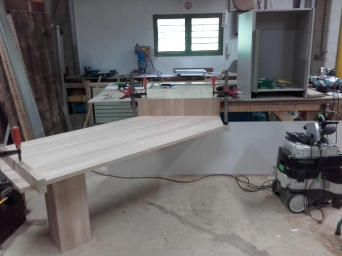 Table en Chêne Lamellée