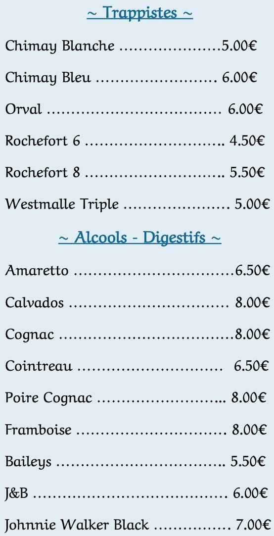 Notre carte restaurant - 3