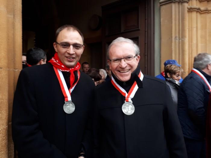 Mgr Warin et l'abbé Ireneusz GOSK