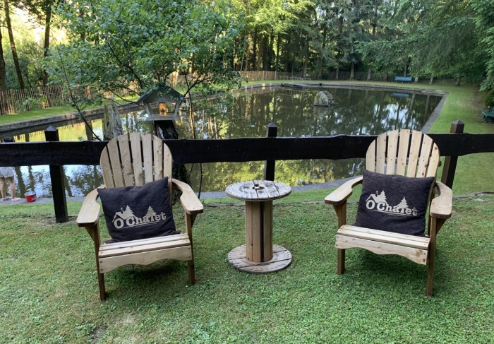 Coin relax vue sur l'étang