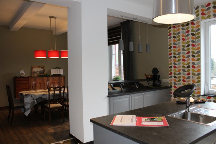 Cuisine, bar et salle à manger
