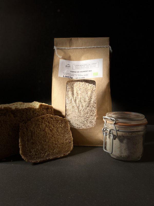Farine de froment bio 1kg et 3kg